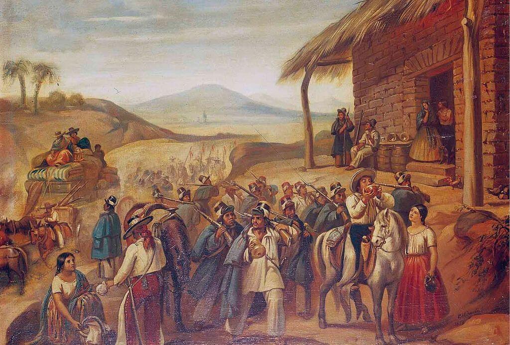 soldados Guerra de Reforma de México