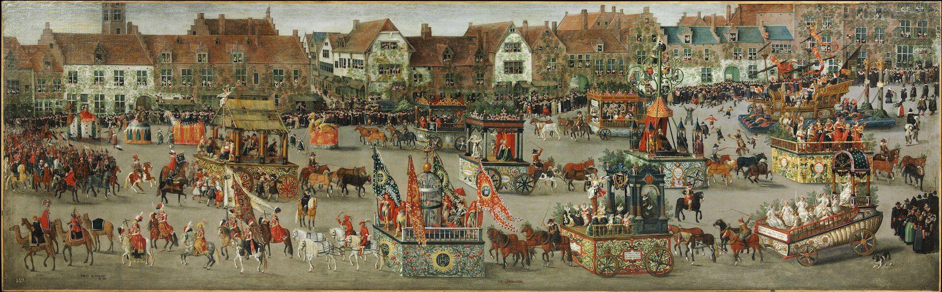 El ommegang de Bruselas del 31 de mayo de 1615. El triunfo de la archiduquesa Isabel Denis van Alsloot