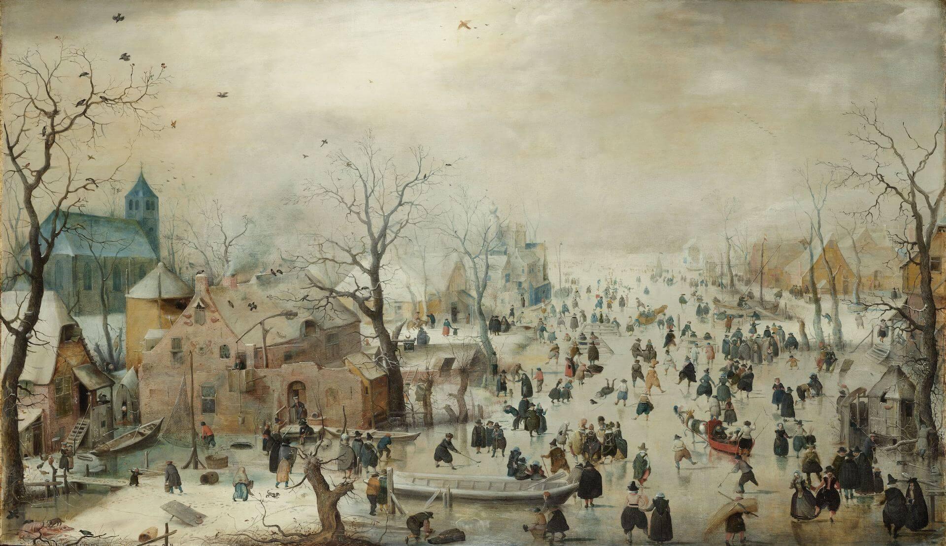 Paisaje invernal con patinadores Hendrick Avercamp