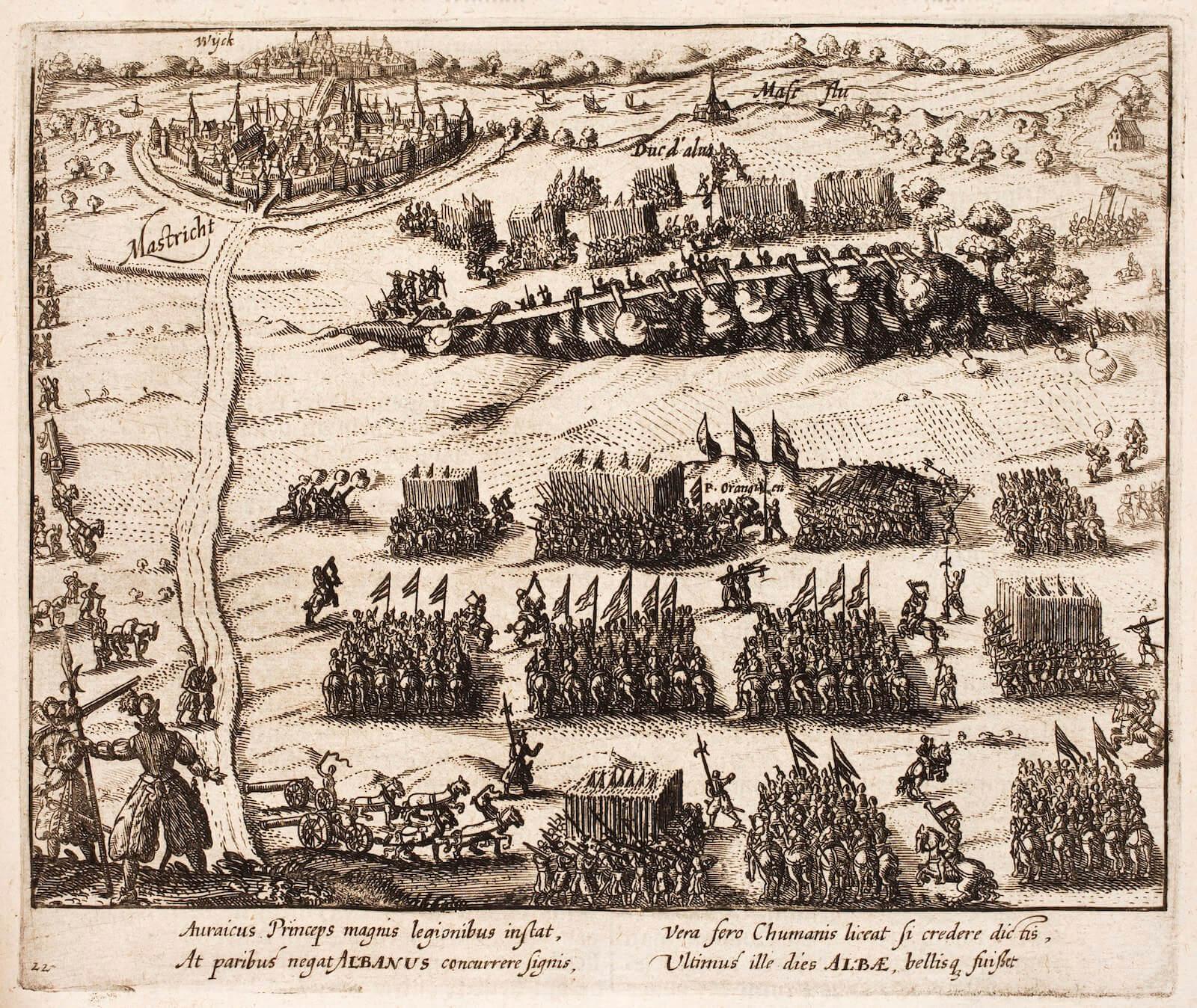 duque de Alba Guillermo de Orange tras el cruce del Mosa