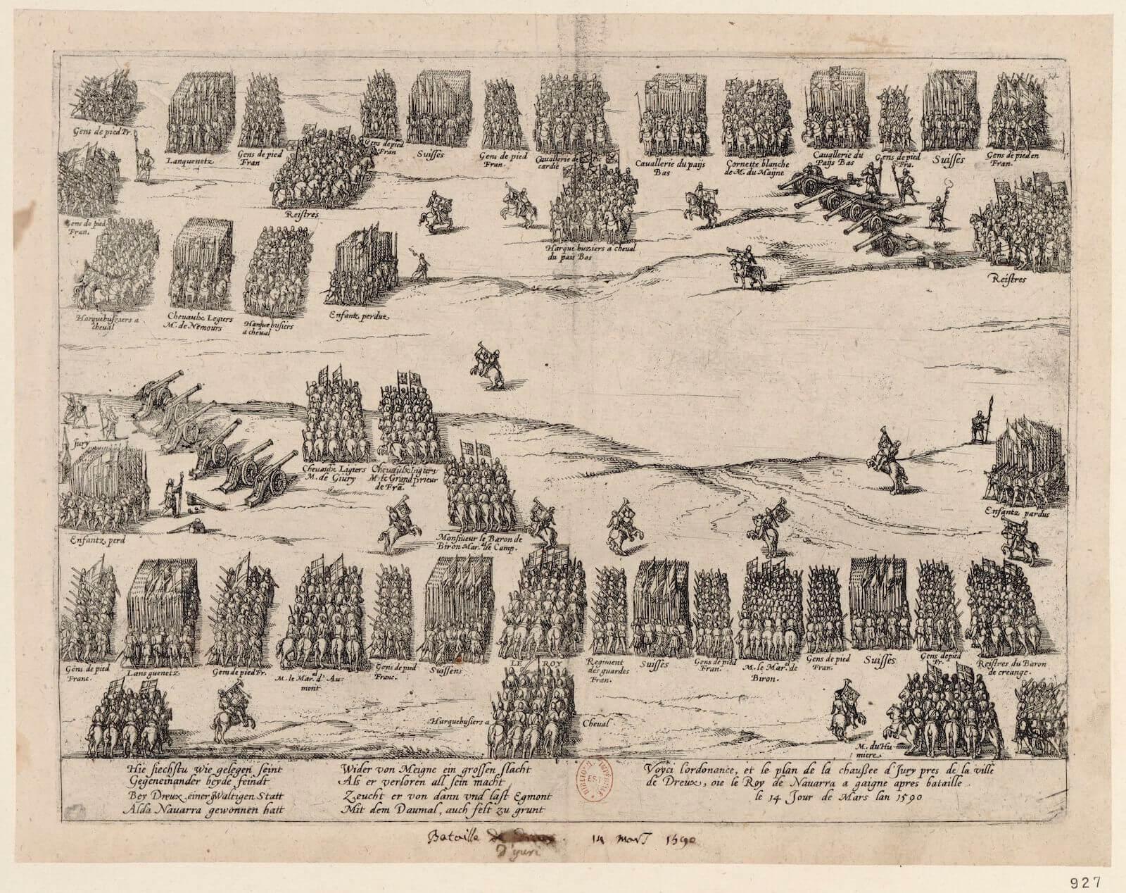Tácticas de infantería en el siglo XVI Ivry