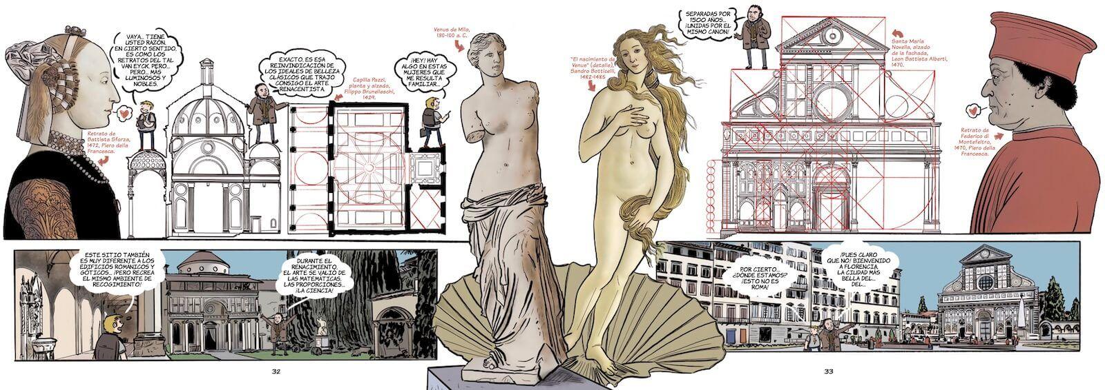 Historia del Arte en cómic el Renacimiento