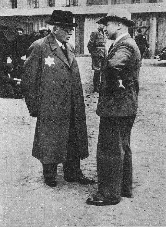 Chaim Rumkowski Hans Biebow