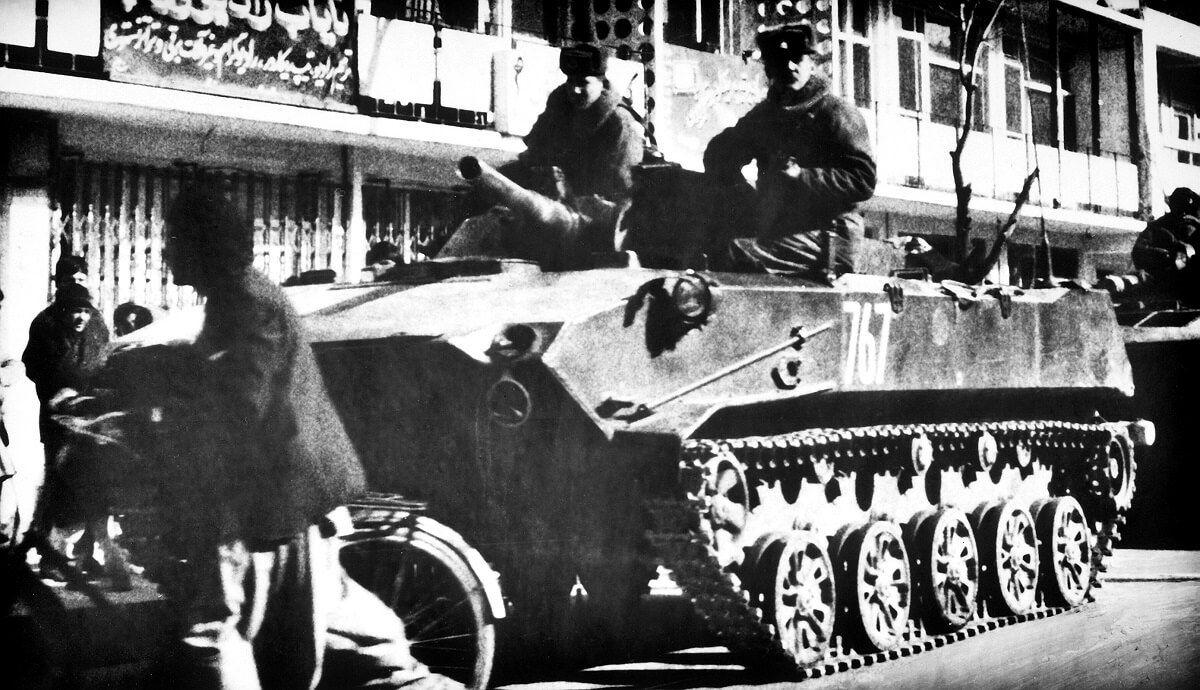 Soldados soviéticos Afganistán