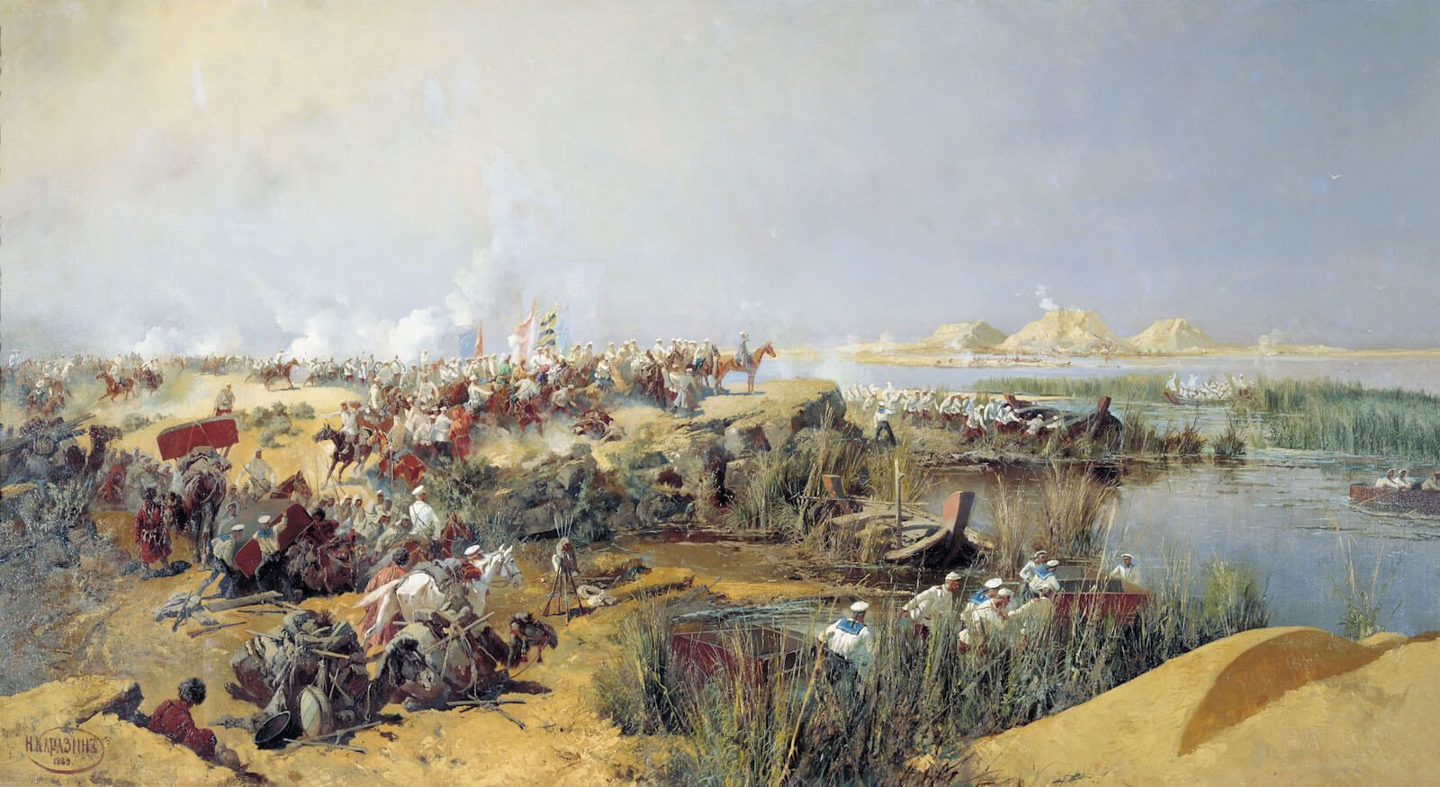 Tropas rusas cruzan el Amu Daria