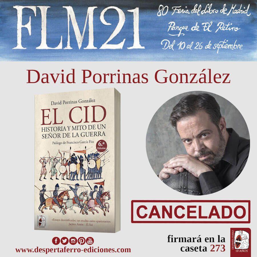 FLM Feria del libro de madrid 2021 david Porrinas